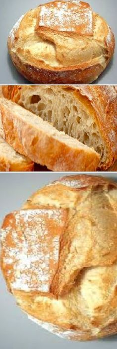 Quick and easy homemade bread (with common flour) If you like, tell us HELLO and give it a thumbs up LIKE… Pan Bread, Bread Baking, No Salt Recipes, Bread Recipes, Deli Food, Almond Cakes, Empanadas, Artisan Bread, Savoury Cake