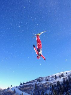 Took this photo at the practice session for the Freestyle Ski World Cup at Deer Valley, Utah. The snow coming off the jump and skis during the aerial maneuver gave the appearance of stars in the sky. Great Wide Open, Photo Action, Ski Posters, Shot Photo, Chula, Snow Skiing, 2017 Photos, Star Sky, Your Shot
