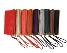 Convertible Crossbody Bag - Large Wristlet with Included Cross Body Strap - Vegan Leather