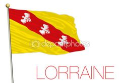 Bandiera regionale di Lorena, Francia — Vettoriali Stock © frizio #119262312