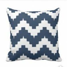 Navy Blue Chevron Print Pillows  #bluechevronthrowpillows #chevron #blue Chevron Throw Pillows, Diy Pillows, Blue Chevron, Navy Blue, Pillow Room, Spinning, Illustration, Cute, Frida Kahlo