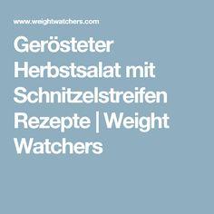 Gerösteter Herbstsalat mit Schnitzelstreifen Rezepte | Weight Watchers