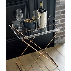 Keep the party going with our unique bar gifts and gift ideas. Shop all home bar essentials, from cocktail shakers and martini glasses to mixology books. Table Top Decor, Tray Table, Decor, Acrylic Table, Bars For Home, Furniture, Acrylic Tray, Acrylic Furniture, Home Decor