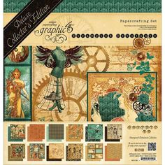 """Graphic 45 Deluxe Collector'S Edition Pack 12""""X12""""-Steampunk Debutante #Graphic45"""