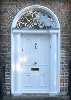 The door which located at the 9 Mountpleasant Square, Dublin