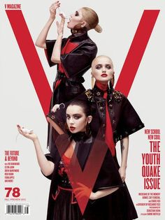 COVER  Carine Roitfeld Styled Three Covers For V Magazines August Issue