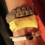 upcycled t shirt bracelets!