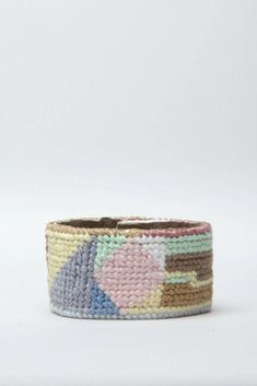 Jewelry by Matt Needlepoint Cuff Bracelet (Pastel Multi)