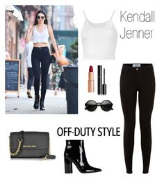 """""""Kendall Jenner Off-Duty Style"""" by ahriraine ❤ liked on Polyvore featuring Lost & Found, New Look, Sigerson Morrison, Michael Kors, ZeroUV, Chanel and offduty"""