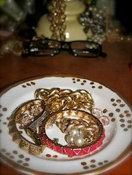Kate Spade inspired diy jewelry dish