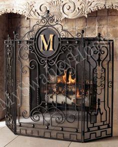 We Fireplaces And Wrought Iron Fireplace Screen On Pinterest