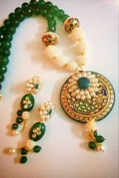 tanjore style layered paper pendant - Google Search