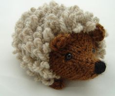 Mario the knitted hedgehog pattern available on Craftsy - sz