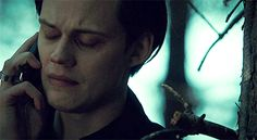 gif and bill skarsgård GIF on We Heart It