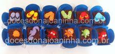 Fudge decorado com peixinhos, chinelos de praia, bichos do mar para festa surf - luau
