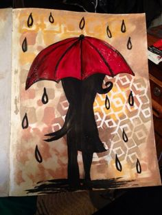 Art journal........Love in the rain