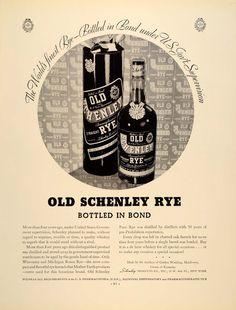 Old Schenley Rye Whiskey Magazine ad 1934