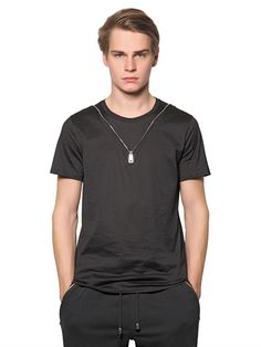 COTTON T-SHIRT WITH ZIP DETAIL