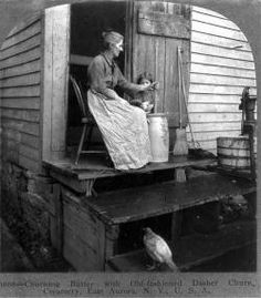 old time butter making with churn - Google Search