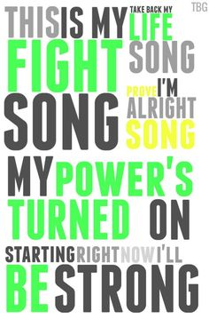 Fight Song by Rachel Platten. So true for my life right now/gotta get my power turned on! Fight Song Lyrics, Song Lyric Quotes, Music Lyrics, Music Quotes, Me Quotes, Lyric Art, Rachel Platten Fight Song, Fight Song Rachel, I Love Music