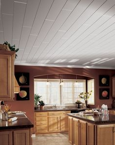 Ceilings and Ceiling Tile Systems by Armstrong : WoodHaven - Cover a popcorn ceiling!