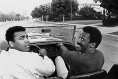 Muhammad Ali and Bill Cosby, out for a spin.