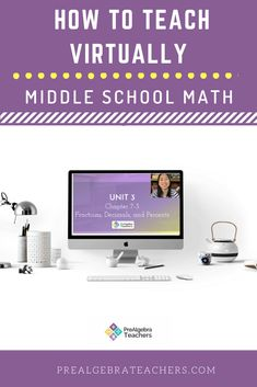 If you have been asked to teach middle school Math virtually and have no idea where or how to start, this is for you. I will show you how to use my favorite (and FREE!) videoconferencing tool called Zoom to teach your middle school Math students online! Education Middle School, Math School, Middle School Classroom, Math Classroom, Google Classroom, Educational Math Games, Educational Technology, Secondary Math, 8th Grade Math