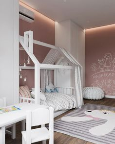 41 trendy ideas for children room design girls girly Baby Bedroom, Baby Room Decor, Girls Bedroom, Kids Room Design, Little Girl Rooms, Dream Rooms, Interior Design Living Room, Decoration, Home Decor