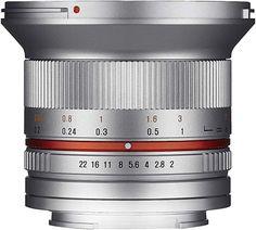 Samyang Objektiv APS-C Sony E manueller Fokus Fotoobjektiv, Weitwinkelobjektiv silber Fuji X, Sony, Container, Photos, Prime Lens, Reflex Camera, Silver