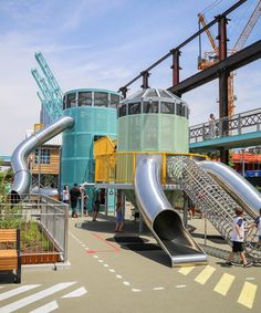 williamsburg's sweetwater playground has the domino sugar factory in its DNA