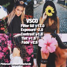 VSCO Filter Pinterest: kimberlymarieruiz Instagram: kimberlymruiz