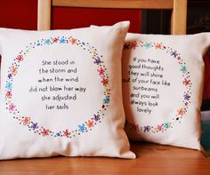 Decorative quote cushion/pillow. Hand by PixiecraftHandmade