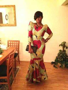 Afrocentric Ankara.   She looks Fierce!!!!