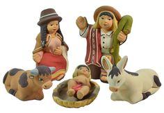 Set de navidad-Nativity set (Nacimiento andino) Hecho en el Perú, totalmente a mano por artesanos peruanos.