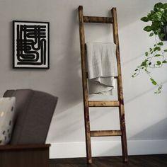 August Grove® 4 ft Blanket Ladder | Wayfair Wooden Ladder Decor, Barn Wood Decor, Diy Ladder, Wood Ladder, Quilt Ladder, Diy Blanket Ladder, Blanket Rack, Wall Basket Storage, Baskets On Wall