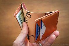 6 Pocket Horizontal wallet Clayton shell от OneStarLeatherGoods