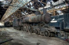 Behold the Rusting Beauty of Abandoned Train Graveyards. In Hungary.