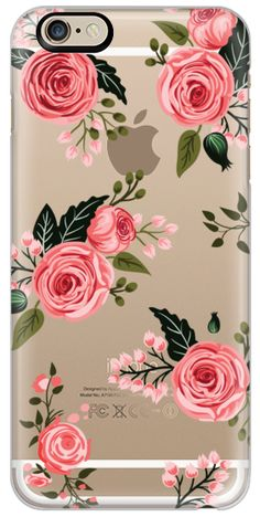 Casetify iPhone 6 Classic Snap Case - Pink Floral Flowers and Roses Chic Feminine Transparent Case 008 by Harvest Paper Co. #Casetify