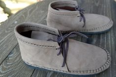 beige / light brown leather moccasins shoes by MaLiGetDressed