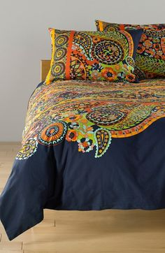 Free shipping and returns on Josie by Natori 'Boho' Duvet & Shams at Nordstrom.com. Vivacious paisley patterns lend bold, eclectic flair to a crisp cotton duvet cover and matching shams.