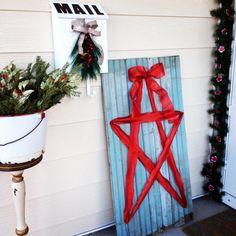 Pinterest inspired Ribbon Star