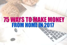 Earn money from home with one of these 75 job ideas and companies. Quick Money, Ways To Earn Money, Earn Money From Home, Stay At Home, Earn Money Online, Online Jobs, Way To Make Money, Extra Money, Extra Cash