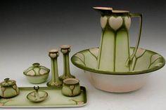 Art Nouveau Pitcher & Bowl Set