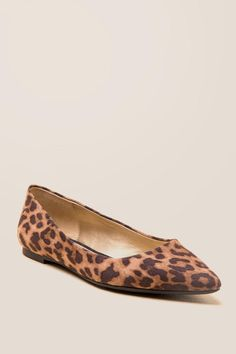 17edc5f624802 Rylee Leopard Pointed Toe Flat