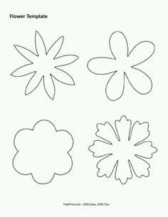 30 Images of Felt Flower Template Felt Flowers Patterns, Floral Embroidery Patterns, Felt Patterns, Embroidery Designs, Handmade Flowers, Diy Flowers, Fabric Flowers, Paper Flowers, Felt Flower Template