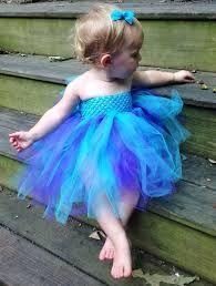Resultado de imagen para vestidos de tul azul para niña