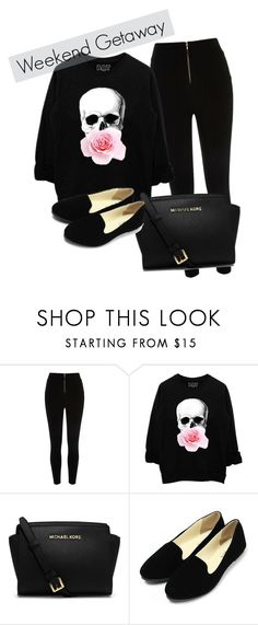 """Comfortable Getaway Outfit"" by keke554 ❤ liked on Polyvore featuring beauty, River Island and MICHAEL Michael Kors"