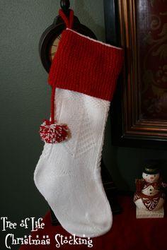 Happy Holidays!!! Christmas Stocking Pattern - knitting loom - free pattern