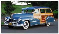 1948 Pontiac De Luxe Streamliner Station Wagon ~ my father would have loved to see this Station Wagon, Cadillac, Vintage Cars, Antique Cars, Vintage Auto, Vintage Trailers, Retro Cars, General Motors, Woody Wagon