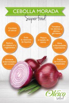 """""""BENEFICIOS DE LA CEBOLLA MORADA""""   #Superfood #Saludable"""